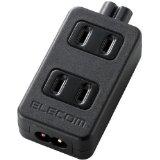 ELECOM ACアダプタ用タップ 2pin 2個口 T-ACTAP22